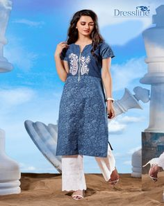 Buy #Exclusive #Denim #Suit With #Leggings & #Palazzo with #Free #shipping #All #over I#ndia