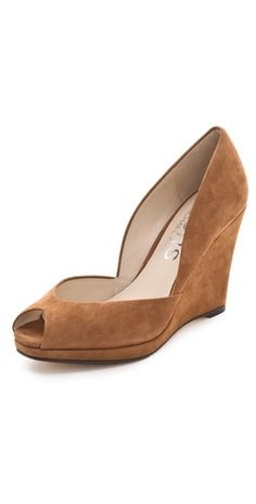 Click Image Above To Purchase: Kors Michael Kors Vail Suede Wedge Pumps