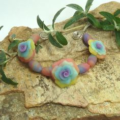 Rose Bead Set  Over The Rainbow by beetreebyme on Etsy, $6.00