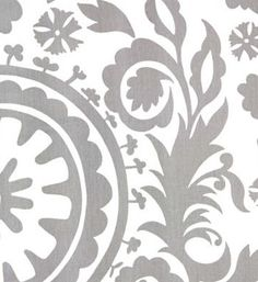 Decorative Designer Grey and White Suzani Print by anitamagnan, $22.00