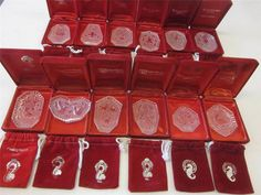Waterford Crystal 12 Days Of Christmas Annual Ornaments Set 1982-1995~MINT~COMPL #WATERFORD #WaterfordCrystal