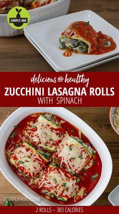 Zucchini Lasagna Rolls - delicious!