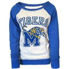 Women's Memphis Tigers Raglan Sweatshirt