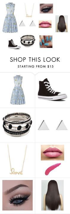 """""""Untitled #65"""" by maya-03-b on Polyvore featuring French Connection, Converse, Jennifer Meyer Jewelry, Sydney Evan and TheBalm"""