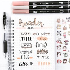Here are some title ideas that you can use in your notes or in your bullet journal🎁 QOT