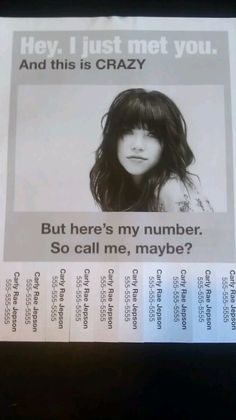 Call me maybe. funny telephone pole sign.