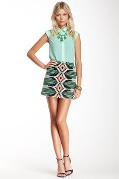 Willow & Clay Ikat Print Skirt on HauteLook