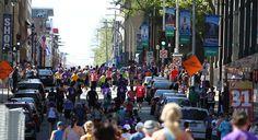 Run, run, run! Marathon Photo, Atlantic Canada, Times Square, Racing, Explore, Blue, Travel, Running, Viajes