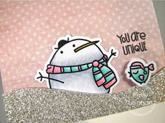 Paper Smooches: Start-to-Finish Card with Swanky Snowdudes by Emily Leiphart