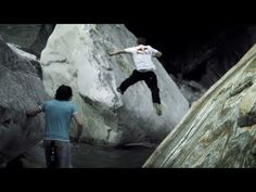 Bringing Parkour Back to Nature - Verzasca Run    Red Bull relocated four of the world's top free runners from their urban turf to the place where parkour got its start: the great outdoors.    Obstacles abound as far as the eye can see along the turquoise waters and elephant sized rocks of the Verzasca Valley in Switzerland - making it the perfect parkour playground.
