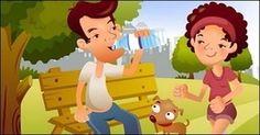 Vetor de ilustrador IClickart Cartoon família material -10