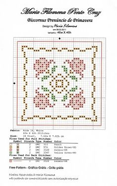flower biscornu cross stitch pattern