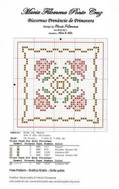flower biscornu cross stitch pattern