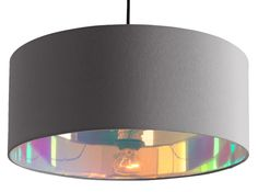 Hue, abat-jour, gris et iridescent Small Lamp Shades, Rectangular Lamp Shades, Ceiling Light Shades, Small Lamps, Living Room Lighting, Home Lighting, Dining Lighting, Navy And Copper, Lampshade Designs
