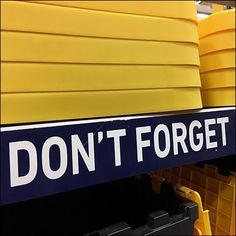Don't Forget Your Lid Shelf Edge Entreaty – Fixtures Close Up Forget You, Storage Spaces, Shelf, Label, Retail, Shelves, Don't Forget, Retail Merchandising, Shelving