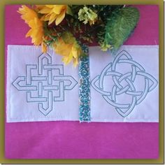 Exclusive Stitches: Knot Quilt As You Go Blocks Machine Embroidery Quilts, Machine Embroidery Designs, Quilt As You Go, Stitch Design, Celtic Knot, Knots, Stitches, Stitching, Celtic Knots