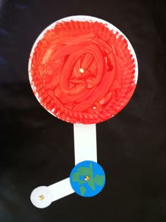 Cute idea for helping kids understand how the Earth rotates around the sun, and how the moon rotates around the Earth.