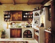 Landhausküche aus lackiertem Holz (Nostalgische Küche) DORALICE ...