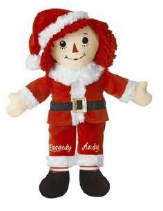 Aurora Raggedy Andy 16'' Plush SANTA'S HELPER Christmas Ragdoll ~NEW~