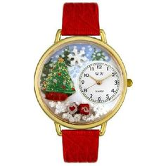 WHIMSICAL WATCHES - Christmas Tree Watch in Gold - FREE SHIPPING $45.00