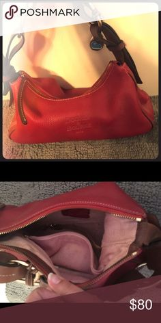 Red D&B purse Red small D&B shoulder purse Dooney & Bourke Bags Shoulder Bags