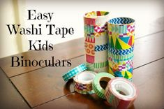 Easy DIY Washi Tape Kids Binoculars
