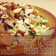 Low-Kal Kabbage & Kale Asian Salad with Quinoa. YUM! #PFITblog #fitfluential #food #recipes