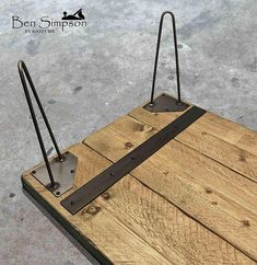 Details about Rustic Solid Coffee Table With Solid Wood Metal hairpin legs Hairpin Leg Coffee Table, Coffee Table Legs, Solid Wood Coffee Table, Rustic Coffee Tables, Hairpin Legs, Rustic Bench, Table En Bois Diy, Diy Table, Wood Table