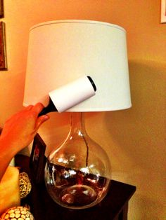 How To Clean Lamp Shades Custom Use A Lint Roller To Clean Your Lampshades It's Almost Embarrassing Design Ideas