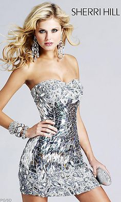 Short strapless sweetheart sequin dress. I need somewhere to where it. Maybe around the house....
