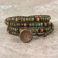 Hey, I found this really awesome Etsy listing at https://www.etsy.com/listing/189038043/topaz-wrap-bracelet-brown-leather