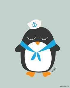 Baby Penguin In Sailor Outfit Poster : Modern Animal Illustration Nursery Art Wall Decor Print 8 x 10 | INSTANT Digital Download Printable by SealAndFriends on Etsy https://www.etsy.com/listing/165857391/baby-penguin-in-sailor-outfit-poster
