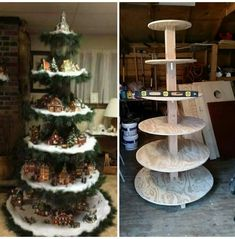 DIY Christmas Village stand More