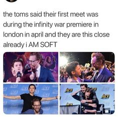 My precious British boys but that also means ther is no scene withe Loki and Spiderman. Marvel Jokes, Avengers Memes, Marvel Funny, Marvel Avengers, Loki God Of Mischief, K Pop, Tony Stark, Namjoon, Karma