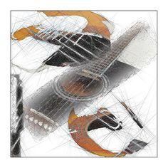 Gitarr    Digital bild