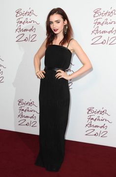 Top 10 Looks From The British Fashion Awards - Lily Collins