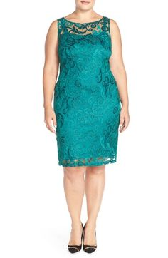Marina Lace Sheath Dress ((Plus Size) available at #Nordstrom