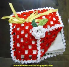 Resultado de imagem para pegas de cozinha crochet natal