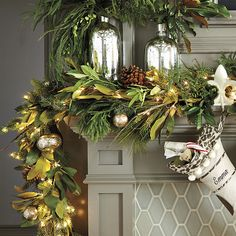 Layer on sparkle to trees, garland, mantels and more with our Petite Starry String Lights. They're lightly wired so you can bend and shape them. Gold Christmas Decorations, Christmas Mantels, Christmas Door, Christmas Balls, Rustic Christmas, Christmas Lights, Christmas Wreaths, Christmas Ornaments, Christmas Flowers