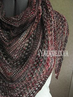 Little Treasures: 6 Free Knitting & Crochet Shawl Patterns Crochet Shawls And Wraps, Knitted Shawls, Crochet Scarves, Crochet Clothes, Knitting Scarves, Knit Or Crochet, Lace Knitting, Knitting Patterns Free, Knit Patterns