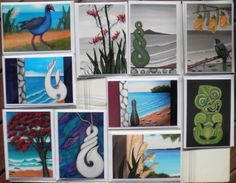Tiki_Flax_Patu_Tui_Kiwiana_NZ_Maori-9 Prints of my Original Paintings by Astrid I have been busy making Greeting Cards. They are now available to purchase on ebay. Check them out. :)