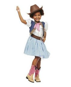NWT - Cowgirl Youth Western Rodeo Dress-up Halloween Costume Size S (4-6) in Clothing, Shoes & Accessories, Costumes, Reenactment, Theater, Costumes | eBay