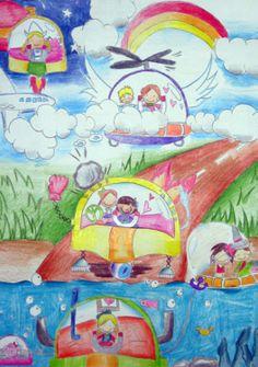 'Multipurpose Safe Car' by Yip Lorraine Long Hei, Aged 13, Hong Kong: 4th Contest, Bronze #KidsArt #ToyotaDreamCar