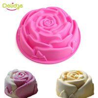 1 pc Rose Forma Molde de Silicone Bolo Forma De Silicone para Fondant Bolo…