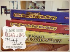 The Unplugged Family: Organizing Heart of Dakota (and a look at our fresh start with three guides!)#.VW91A-ZFAqT#.VW91A-ZFAqT