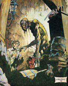 Bernie Wrightson RBCC Cover, in Roger K.'s Wrightson, Bernie Comic Art Gallery Room Comic Book Artists, Comic Artist, Comic Books Art, Artist Art, Frank Cho, Bruce Timm, Frank Frazetta, Horror Comics, Horror Icons