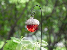 Fairy Garden Acorn Cap Lantern miniature by TheLittleHedgerow.