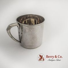 Hammered Silver, Antique Silver, Sterling Silver, Berries, Japanese, Mugs, Tableware, Dinnerware, Japanese Language