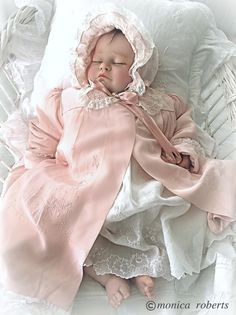 antique/vintage silk, embroidered baby coat and bonnet - Photo credit ... Monica Roberts Collection