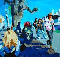 Birgit Schweiger LAZY SALZBURG II - 2014 40 x 40 cm Oil - canvas
